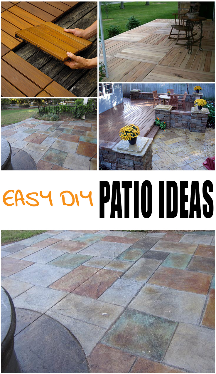 {Easy} DIY Patio Options - Page 2 of 7 - Picky Stitch on Diy Concrete Patio Ideas id=85623