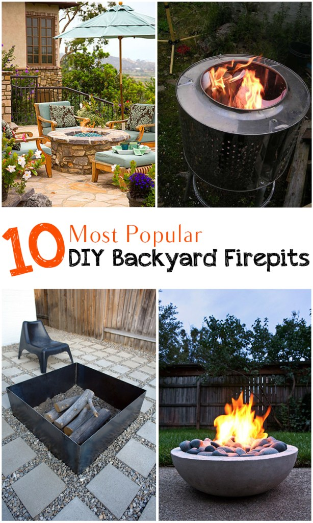 10 Most Popular DIY Backyard Firepits