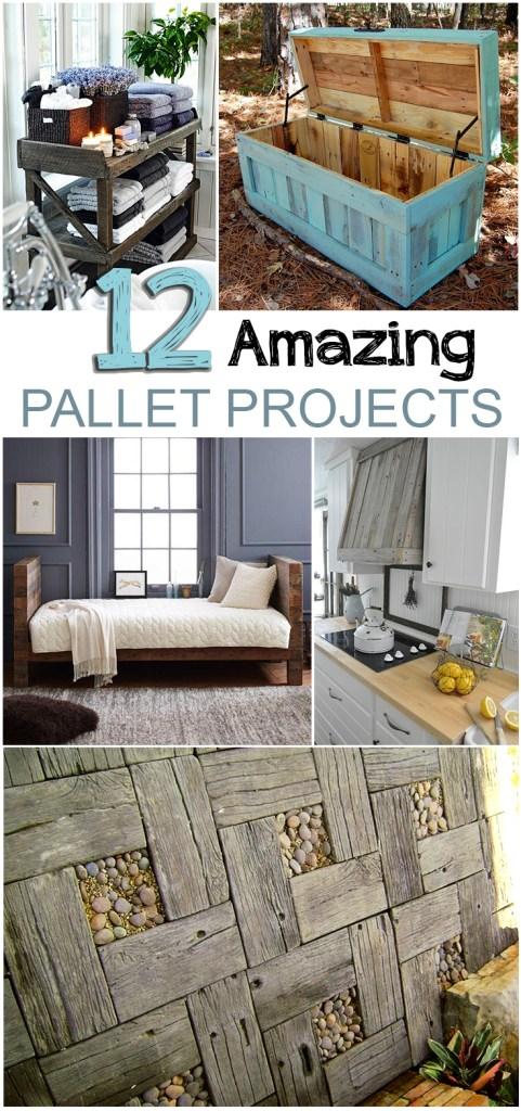 12 Amazing Pallet Projects| #Pallet Projects #PalletDIYS #RepurposeProjects #DIYHome #DIYHomeDecor #HomeDecorProjects #EasyHomeDIYs