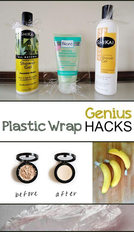Genius Plastic Wrap Hacks