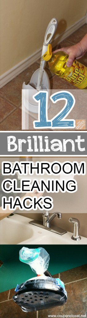 Here are 12 things you may not have thought of that should make cleaning the bathroom just a little bit easier. #Bathroom #BathroomCleaning #BathroomCleaningTips #Cleaning #CleaningHacks #CleaningTips