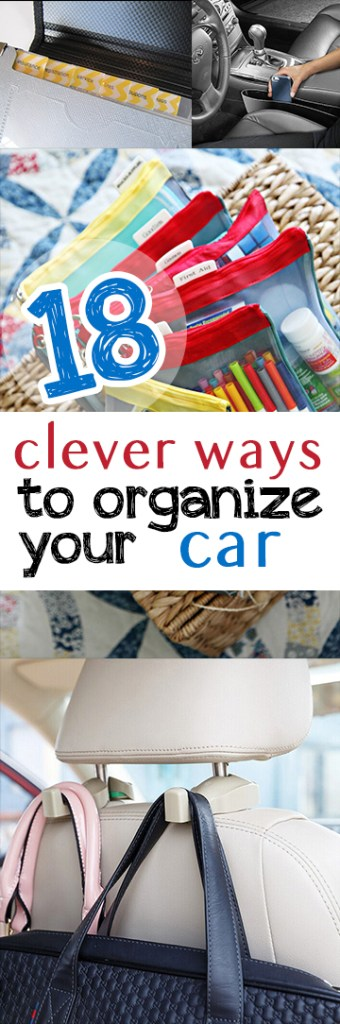 Here are some awesome ideas to clean and organize your car! #Organization #CarOrganization #CarCleaning #HomeOrganizationTips #Car #CarCleaningTips