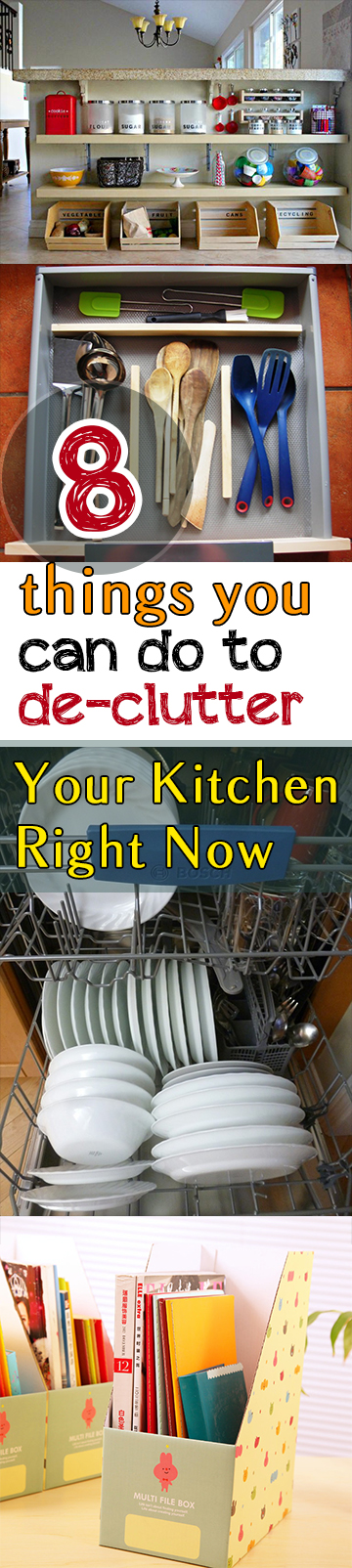 8 Things You Can Do to De-Clutter Your Kitchen Right Now