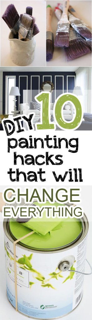 Painting hacks, DIY hacks, popular pin, painting, home hacks, DIY painting, home improvement, home improvement hacks.