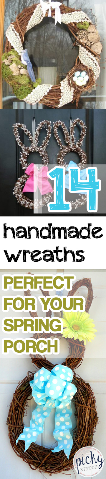 Handmade Wreaths, Porch Decor, Spring Porch Decor, Decorating for Spring, Spring Porch, How to Decorate Your Porch for Spring, Easy Ways to Decorate for Spring, Homemade Porch Decor, Popular Pin.