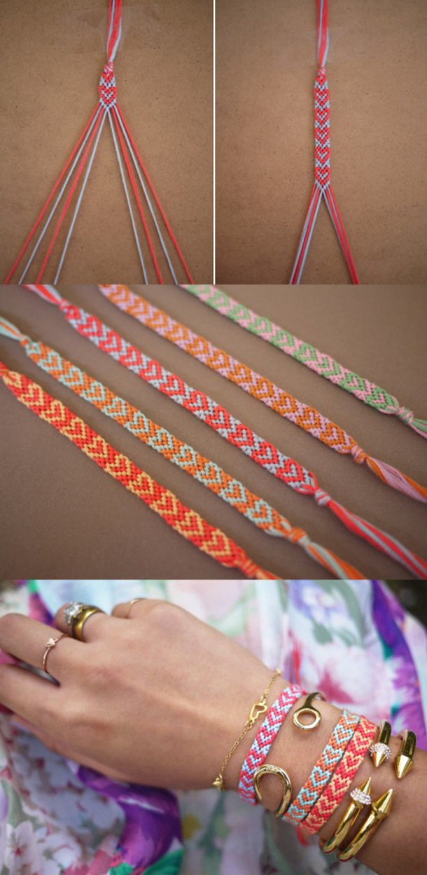 12 Super Simple Homemade Bracelet Tutorials