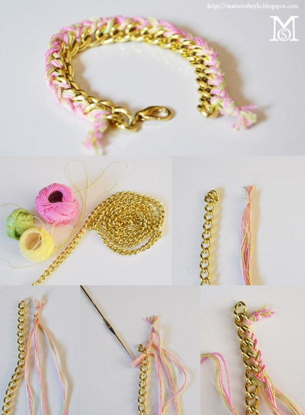 12 Super Simple Homemade Bracelet Tutorials5