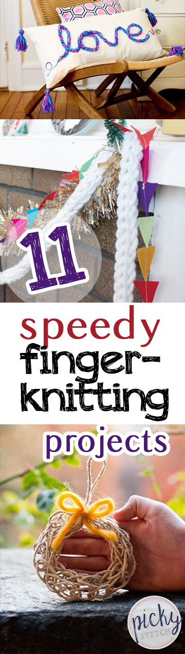 11 Speedy Finger-Knitting Projects - Finger Knitting Craft Projects, Knitting Projects, Craft Projects, Easy Craft Projects for Everyone, Crafts, Easy Crafts, Craft Projects, Finger Knitting Tutorials
