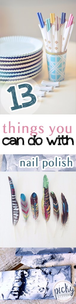 13 Things You Can Do With Nail Polish-Nail Polish Crafts, Crafting With Nail Polish, Things to Do With Nail Polish, Crafts, Easy Crafts, Quick Craft Projects, Quick Craft Projects With Nail Polish, Decorating With Nail Polish
