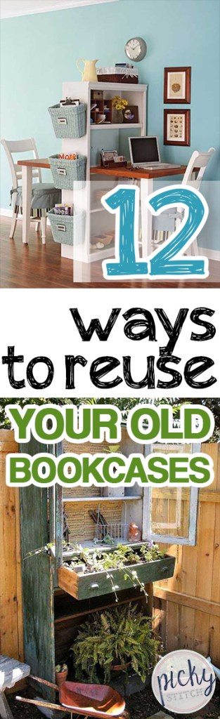 12 Ways to Reuse Your Old Bookcases| How to Reuse Old Book Cases, Repurpose Old Book Cases, Recycled Book Cases, How to Recycle and Repurpose a Book Case, Book Case DIY Projects, Home Improvement, Easy DIY Projects, DIY Home