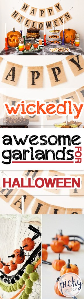 Wickedly Awesome Garlands for Halloween| Halloween Garlands, DIY Halloween Garlands, Awesome Halloween Garlands, Make Your Own Halloween Garland, DIY Halloween, Halloween Home Decor, Halloween Home Decor Hacks, Popular Pin