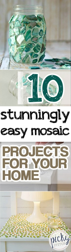 10 Stunningly Easy Mosaic Projects for Your Home| Mosaic Projects, DIY Mosaic Projects, Mosaic Projects for the Home, Stunning Projects for the Home, DIY Projects, DIY Home Projects, Art Projects for the Home, Easy Mosaic Projects for the Home, Popular pin