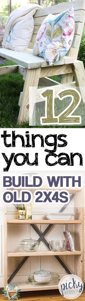 12 Things You Can Build With Old 2x4s| Craft Projects, Easy Craft Projects, Repurpose Crafts, Easy Repurpose Crafts, 2x4 Craft Projects, 2x4 Tutorials, Popular Pin. #CraftProjects #EasyCraftProjects #Crafts