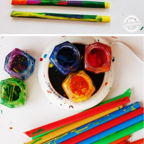 Don't Throw Away Your Old Crayons!  Crayon Crafts, Crafts, Easy Crafts, Crafts for Kids, Repurpose Projects, Home Recycling Projects, DIY Home, DIY Crafts, Crafts for the Home #DIYHome #CraftProjects #RepurposeProjects