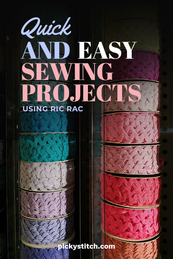 sewing projects using ric rac | sewing projects | easy sewing projects | ric rac | sewing | crafts | DIY