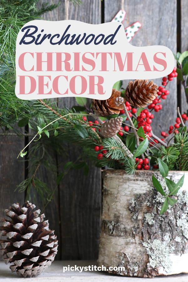 Bring the outside in this year for Christmas with birchwood Christmas decor crafts. The white bark is simply stunning and creates a rustic feel for the holiday. It's a great way to bring an outdoor feel inside without being cold. Its a win win for sure. If you want to bring nature or woodsy feel to your decor you can't go wrong with these rustic birchwood Christmas decor crafts. #rusticchristmasdecor #birchwoodholidaydecor #christmashomedecor