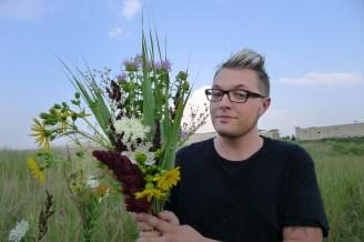 Steve with his arrangement