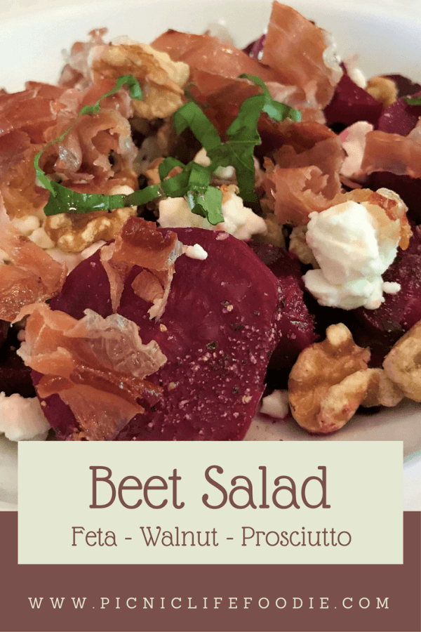 Sweet beets, salty prosciutto, crunchy walnuts, and tangy feta cheese: this simple salad hits all the notes of a complete meal!