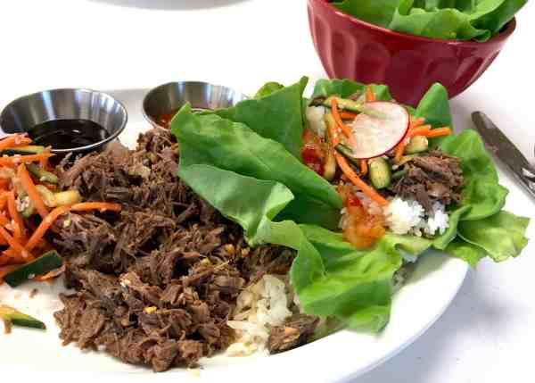 Asian Beef Lettuce Wrap