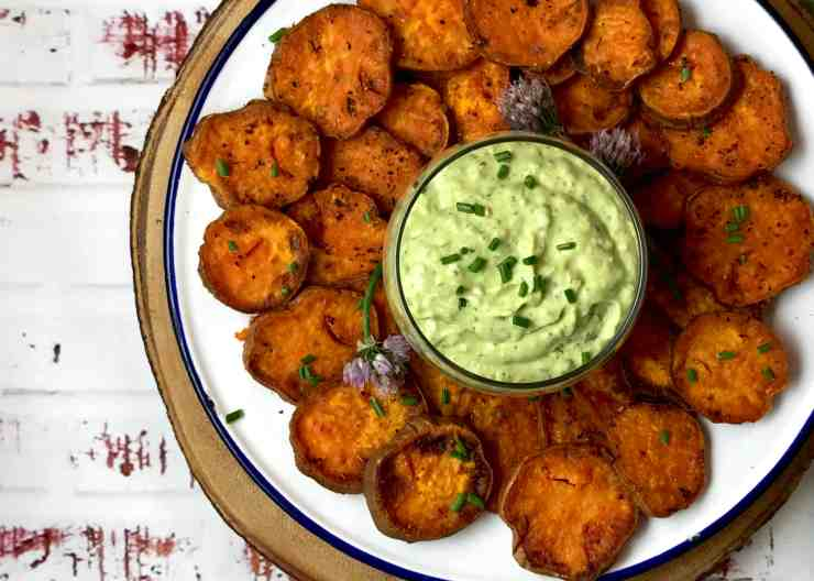 Verde Goddess Dressing with Sweet Potatoes
