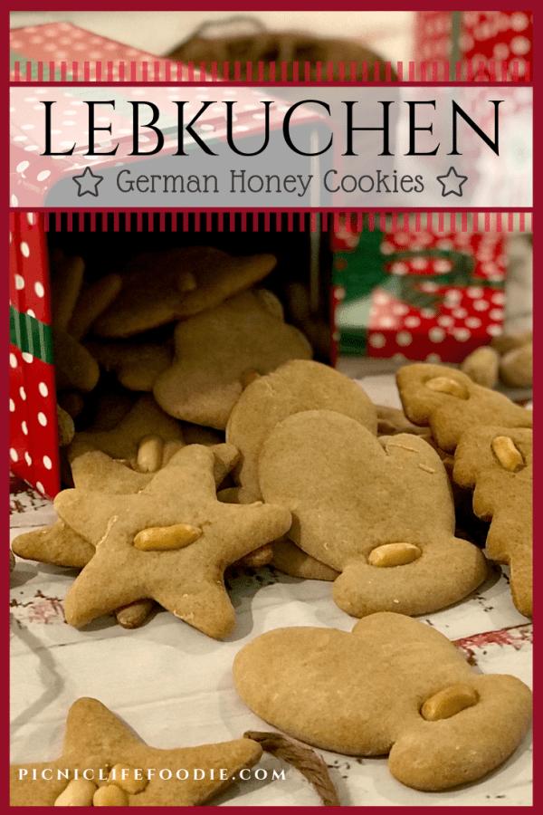 Lebkuchen (German Honey Cookies) Pin