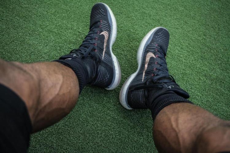 black man feet