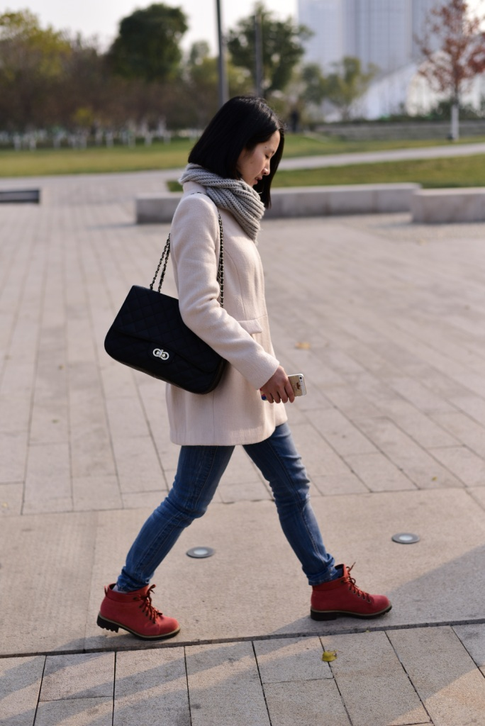 young woman winter