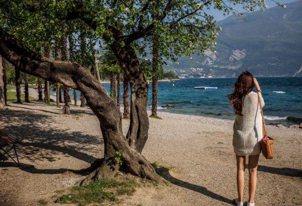 Woman On Windy Beach - Picography Free Photo
