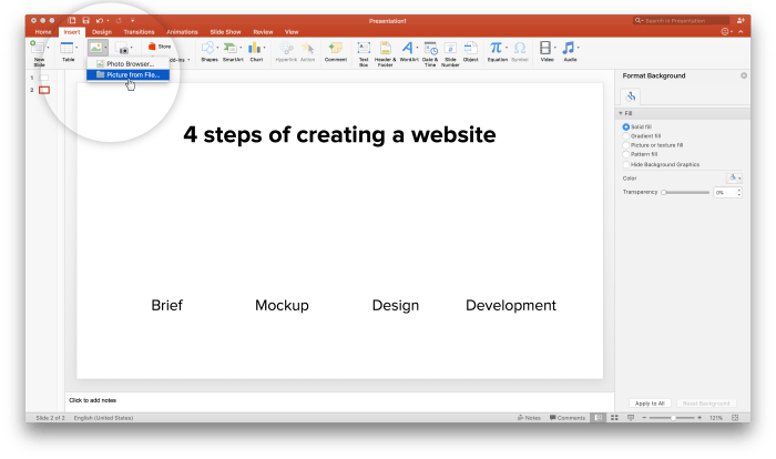 Insert vector graphic in MS PowerPoint