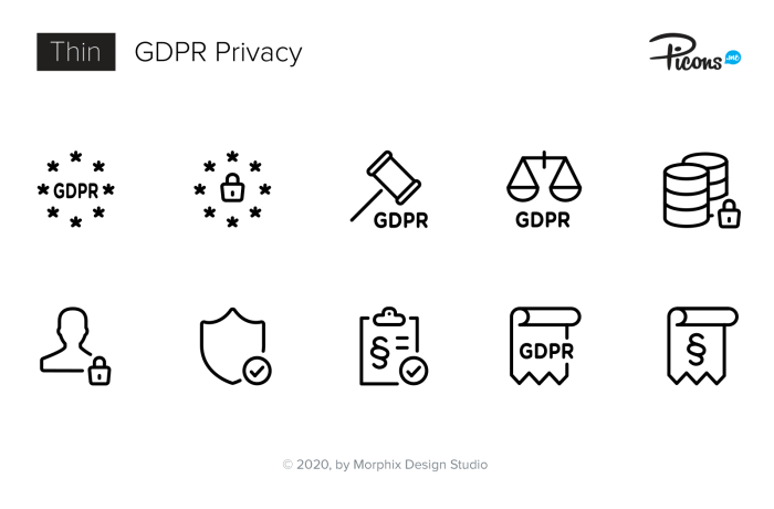 GDPR Data Privacy Icons
