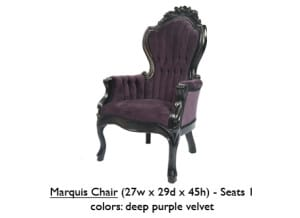 Velvet Marquis Chair