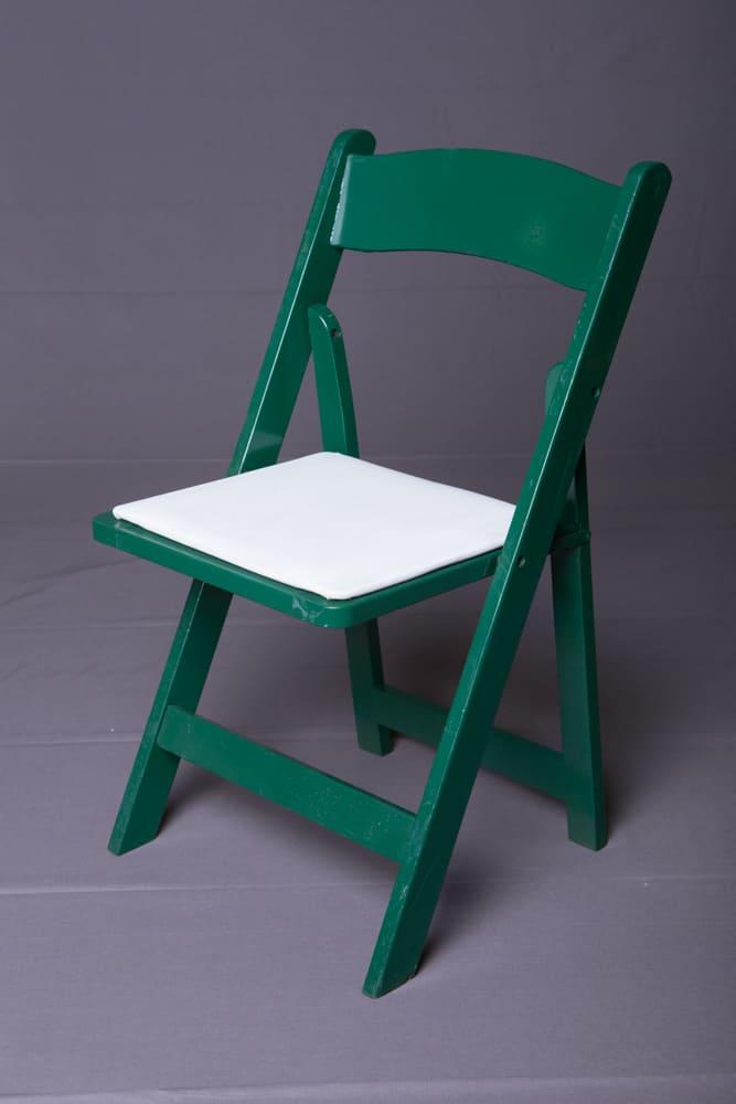 Green Wood Folding Chair