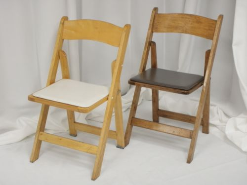 Natural/Walnut Wood Folding. Red Wood Folding Chair