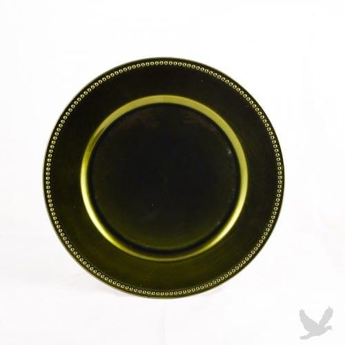 olive-green-charger-platedinnerware-rental-in-los-angeles