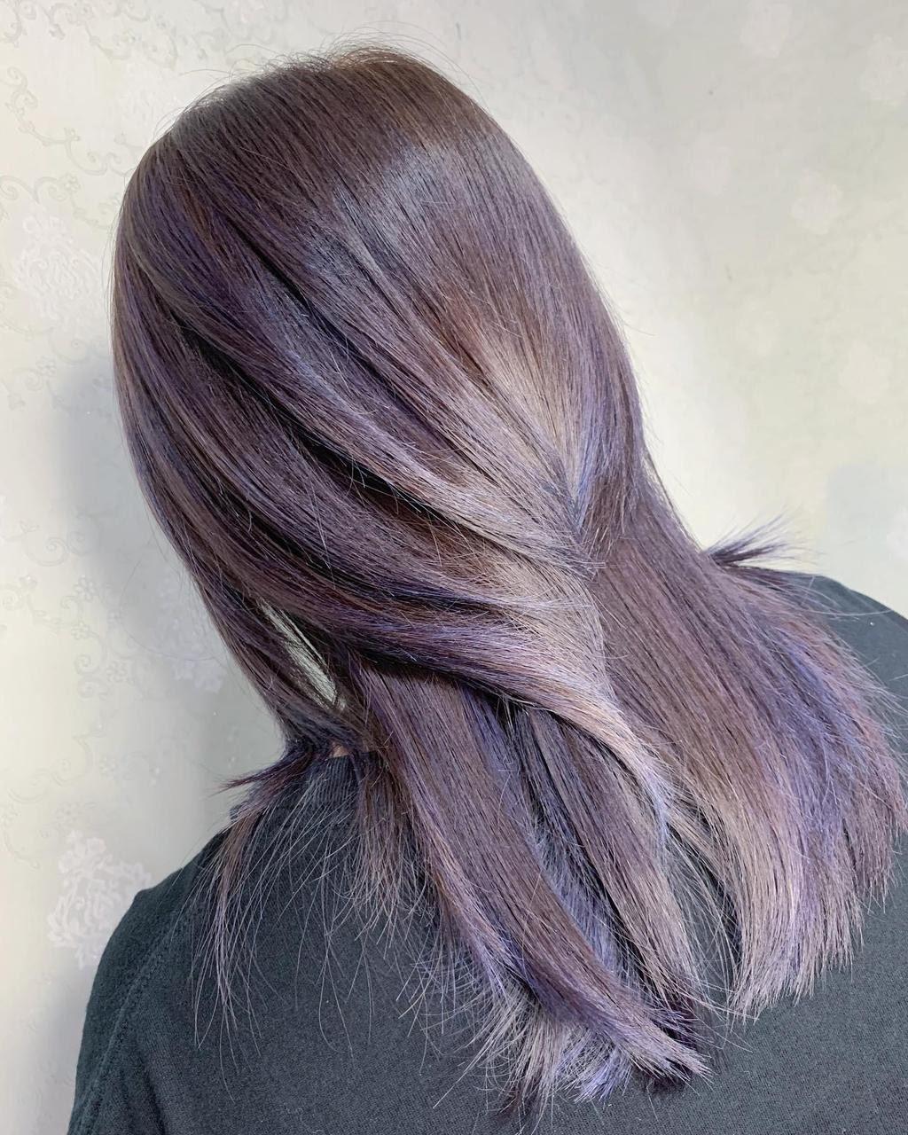 ▲▼台北染髮紫色系的4款變化。