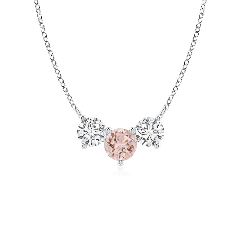 Classic Morganite And Diamond Necklace