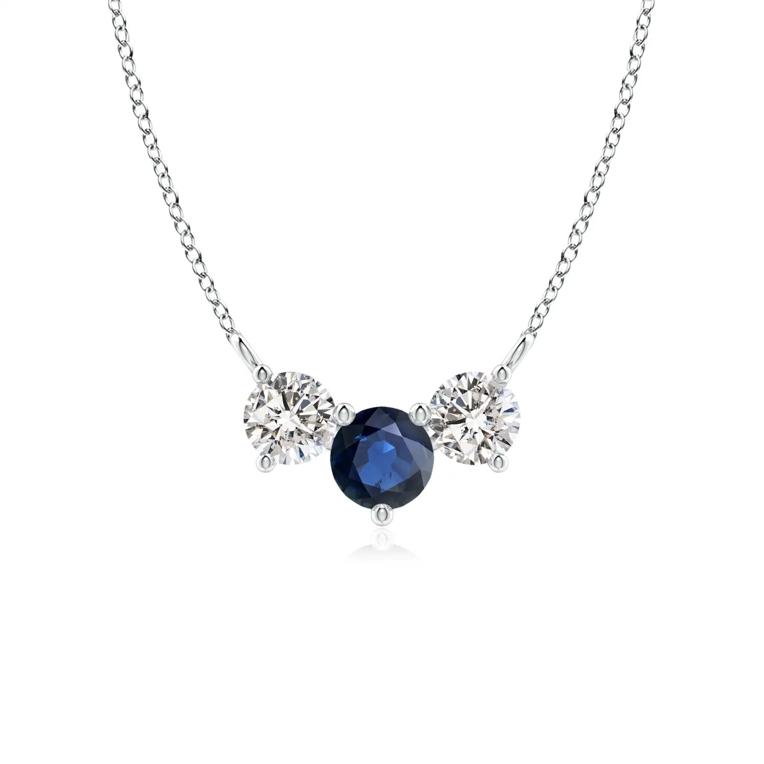 Classic Sapphire And Diamond Necklace