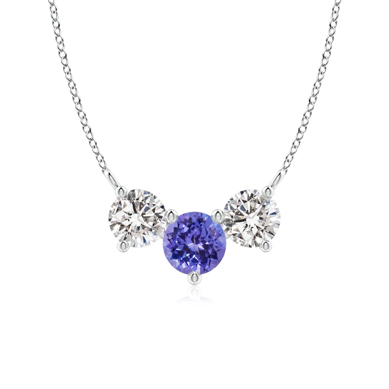 Classic Tanzanite And Diamond Necklace