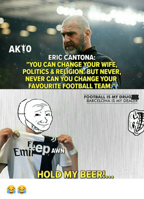 """I will die with them in my heart."""". 25 Best Memes About Eric Cantona Eric Cantona Memes"""