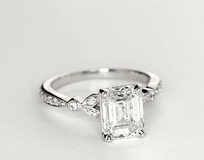 Your cool engagement ring  Emerald cut diamond engagement ring     Emerald cut diamond engagement ring vintage style