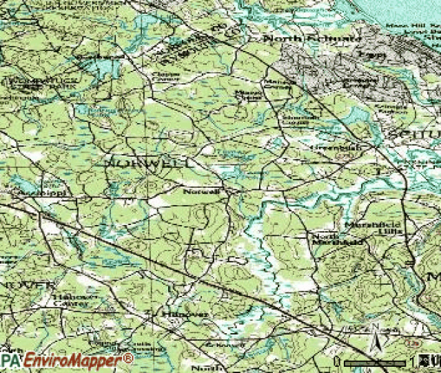 Norwell Topographic Map