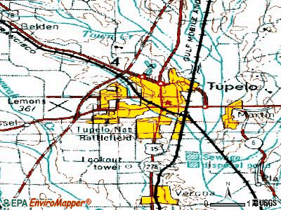 Tupelo Mississippi Ms 38801 Profile Population Maps