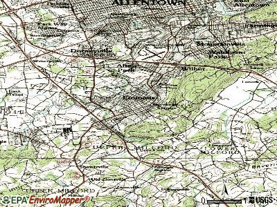 Emmaus topographic map
