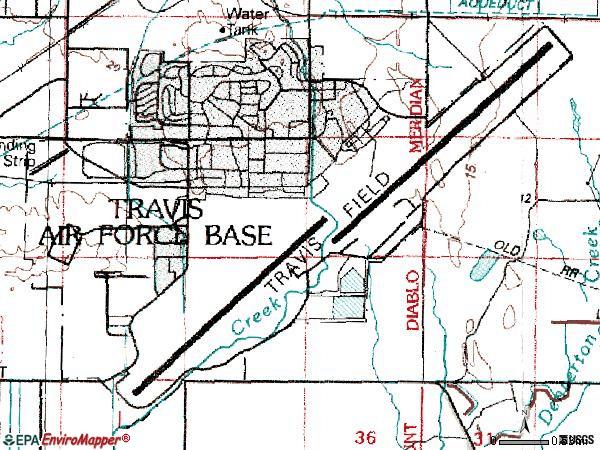 Travis afb area code
