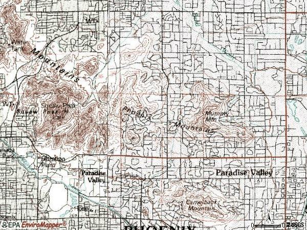 Zip code 85253 topographic map