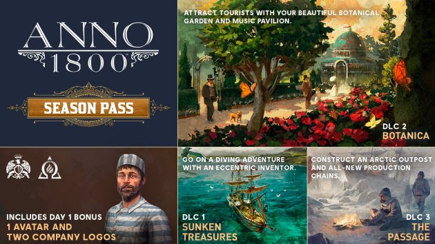 The Season Pass delivers three DLCs distributed over the year 2019