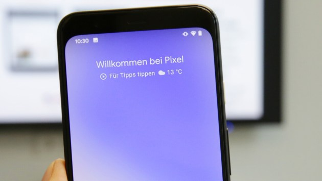 Feature, a Drop installed in the Pixel 4 of the lights on the Display, to Update a 40-percent brighter