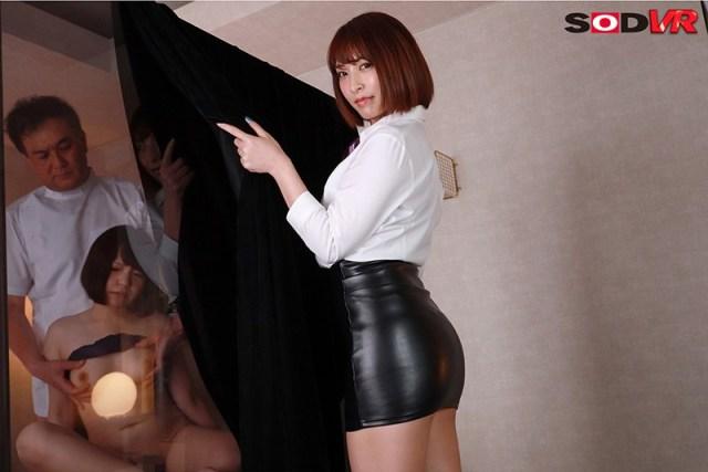 【VR】NTR×JOI マジックミラー越しに彼女が寝取られながら痴女に射精管理される僕4