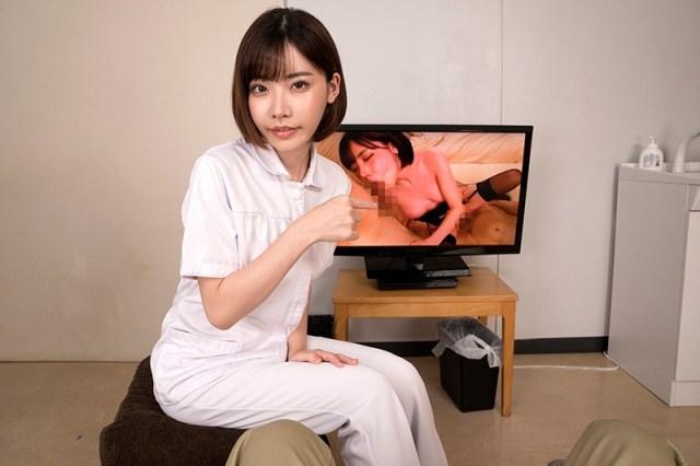 1dandyhqvr00004jp 3 - 【VR】採精室でAVを見てたら本人登場! 現役AV女優看護師が精液検査を凄テクで 手伝ってくれた◆深田えいみ