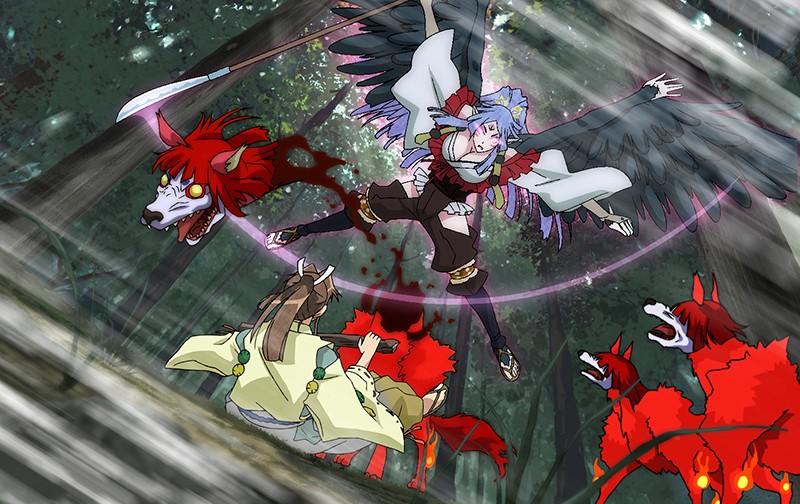 漆黒のシャガ THE ANIMATION 第一話『女郎蜘蛛』5